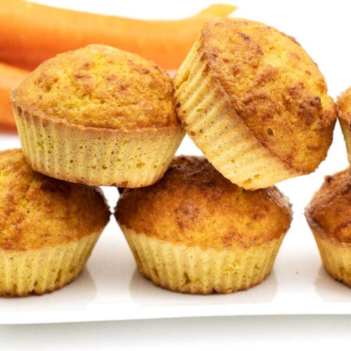 Karotten Muffins ohne Zucker backen