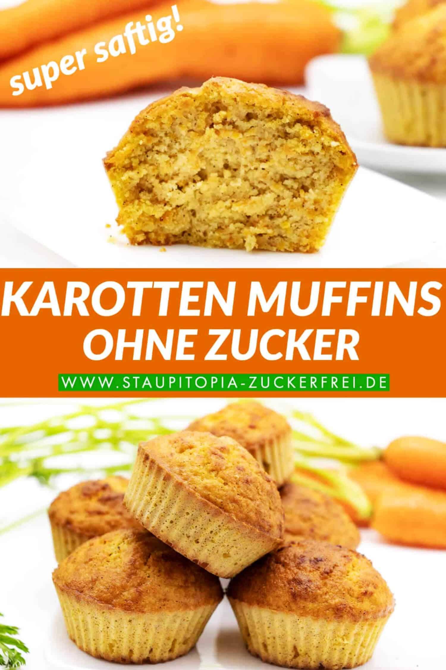 Low Carb Karotten Muffins ohne Zucker und ohne Mehl
