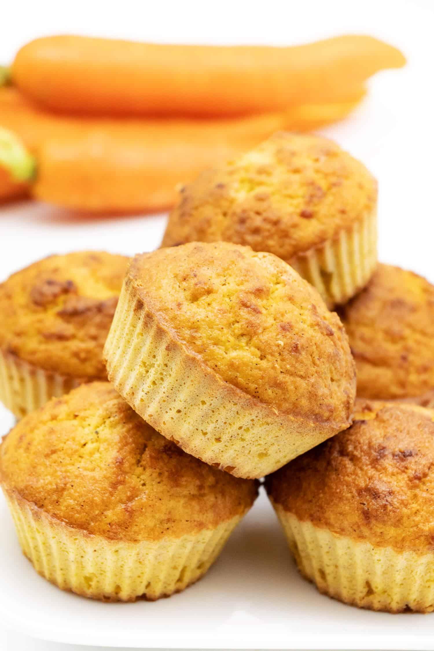 Möhren Muffins Low Carb Rezept