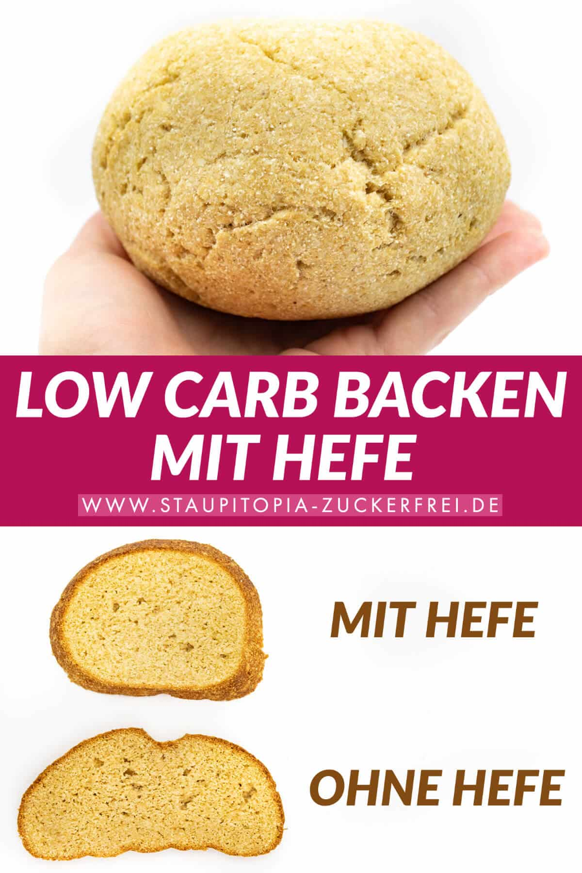 Zuckerfrei Backen mit Hefe Low Carb
