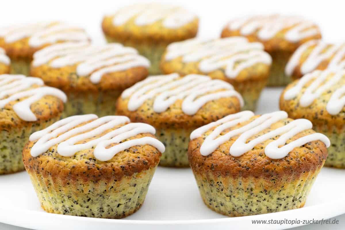 Low Carb Mohnmuffins mit Zitrone Rezept