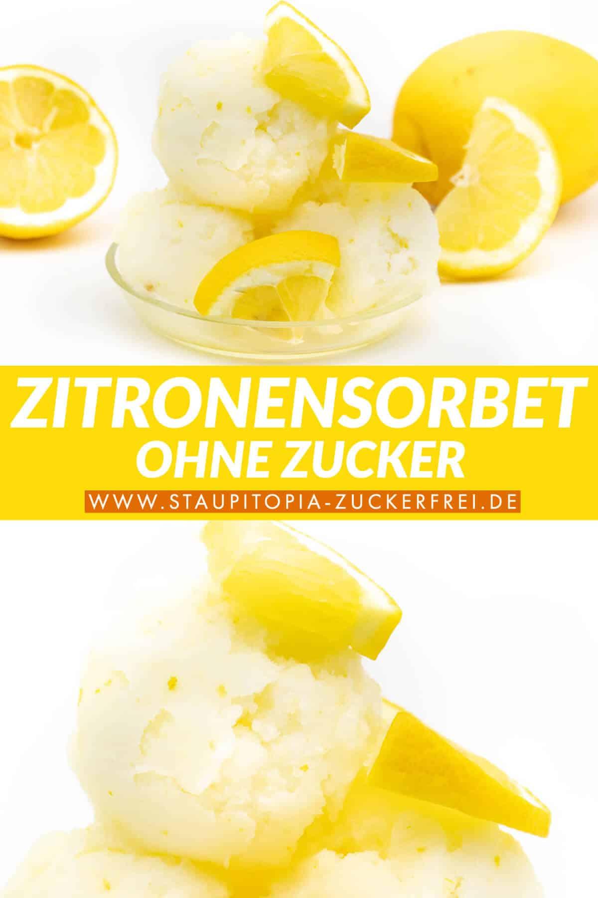 Low Carb Zitronensorbet ohne Zucker selber machen