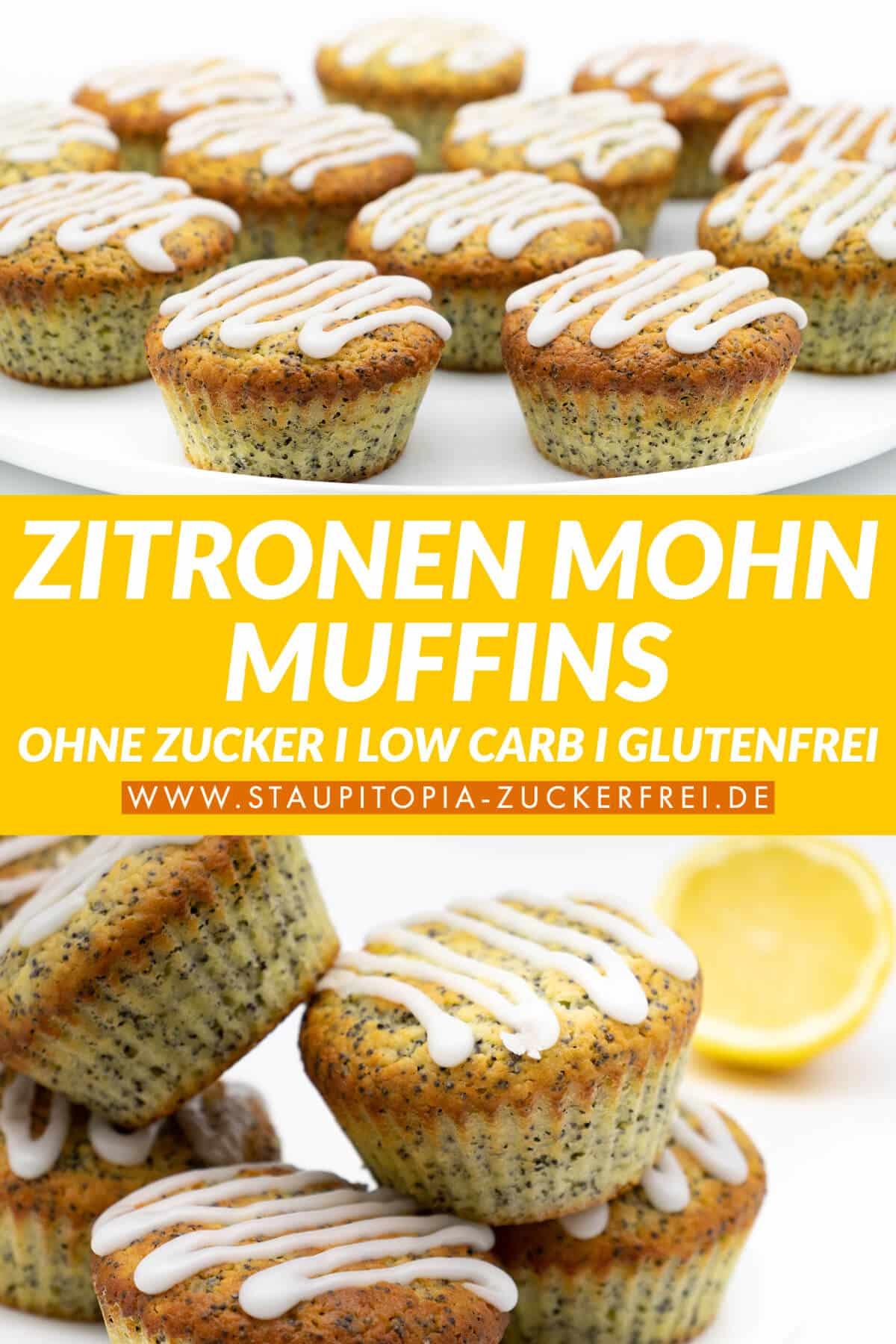 Low Carb Zitronen Mohn Muffins ohne Zucker