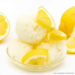Zitronensorbet selber machen ohne Zucker - Low Carb Rezept