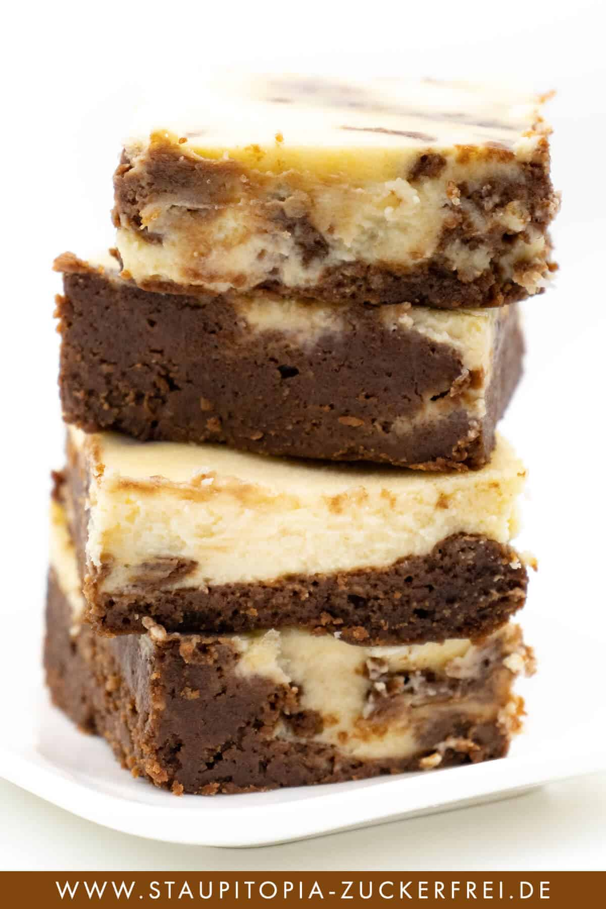 Cheesecake Brownies Rezept Low Carb