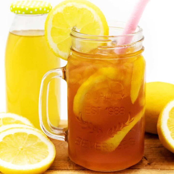 Zitronen Eistee ohne Zucker selber machen