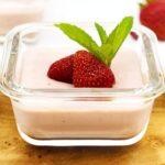 Erdbeerpudding ohne Zucker selber machen