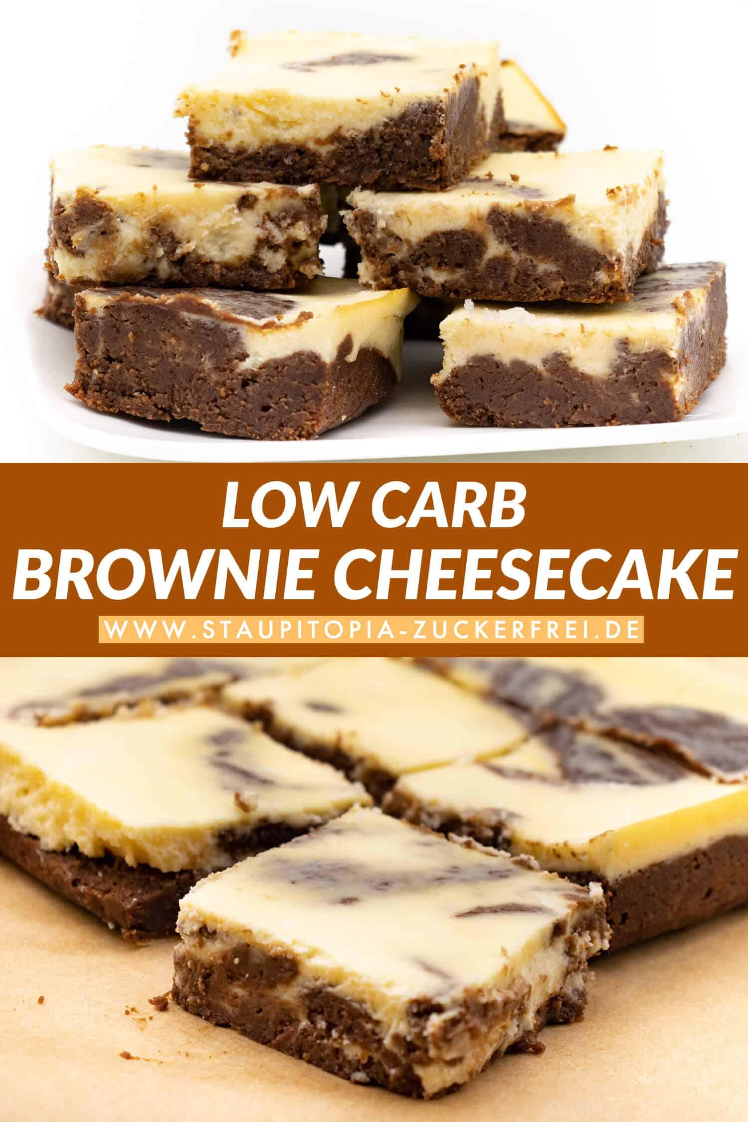 Low Carb Brownie Cheesecake ohne Zucker selber machen