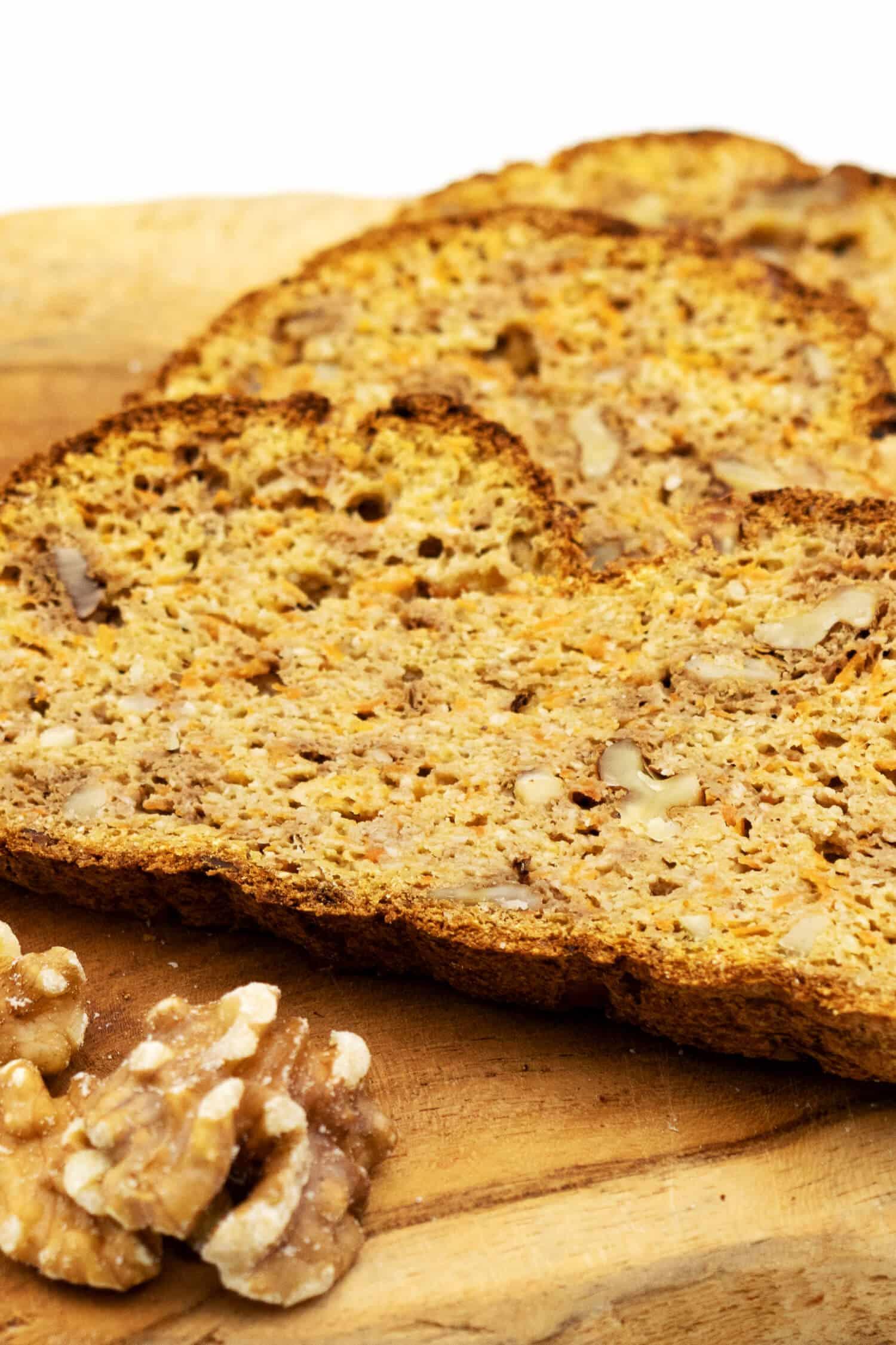 Möhren Walnuss Brot Rezept ohne Kohlenhydrate