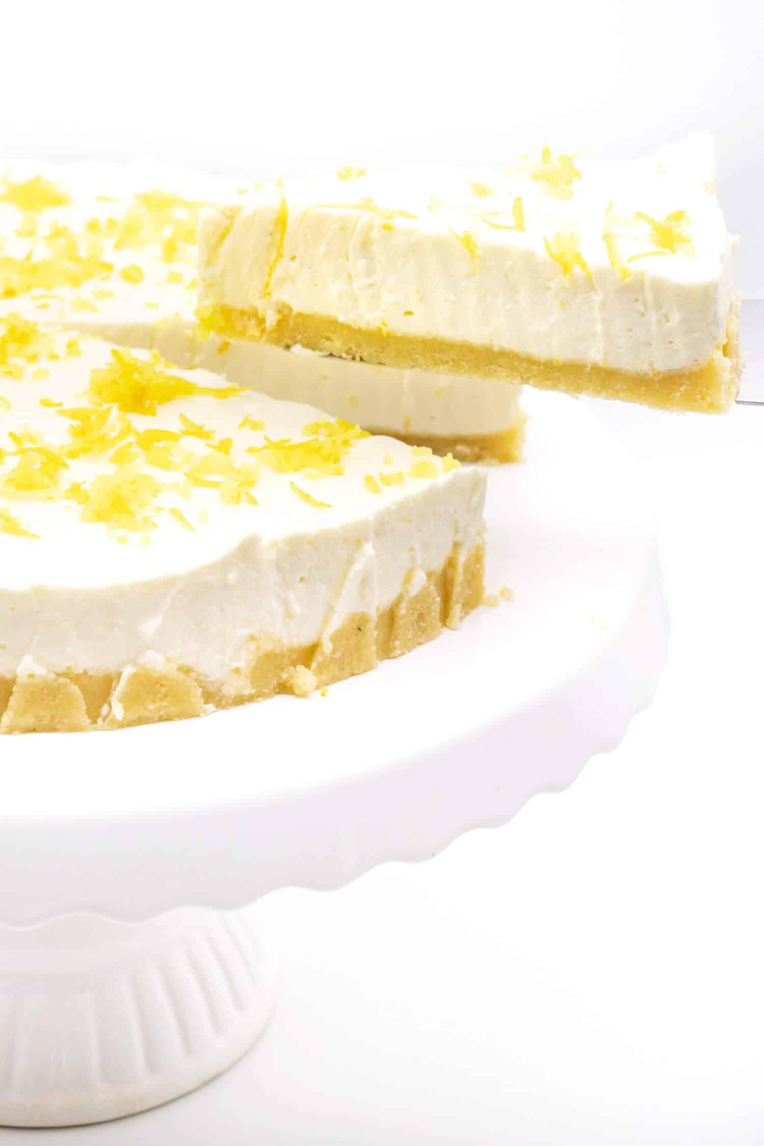 Zuckerfreie Zitronen Buttermilch Torte ohne Backen