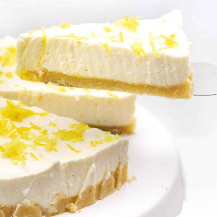 Zitronen Buttermilch Torte ohne Zucker und ohne Backen
