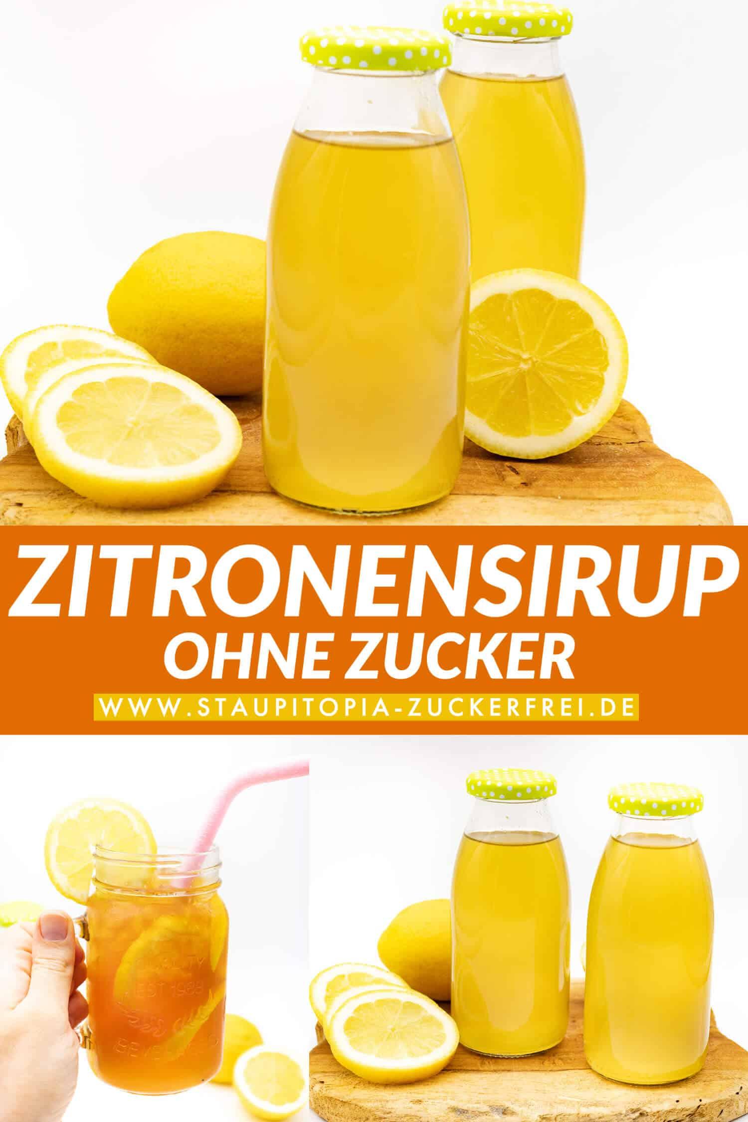 Zitronensirup ohne Zucker für Limonade selber machen