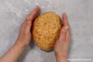Zubereitung Low Carb Karotten Walnuss Brot Schritt 3