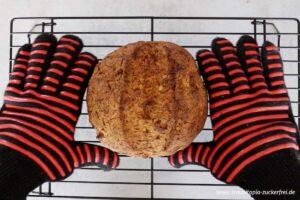 Zubereitung Low Carb Karotten Walnuss Brot Schritt 6