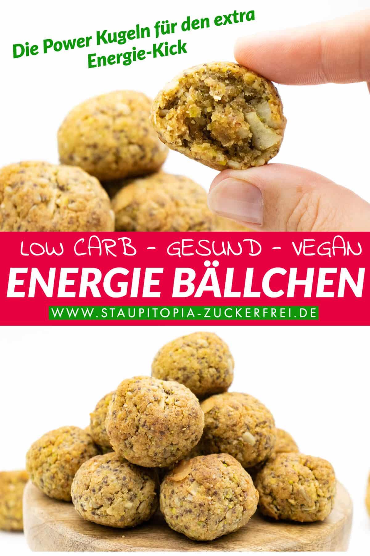Gesunde Energiebällchen Low Carb Rezept