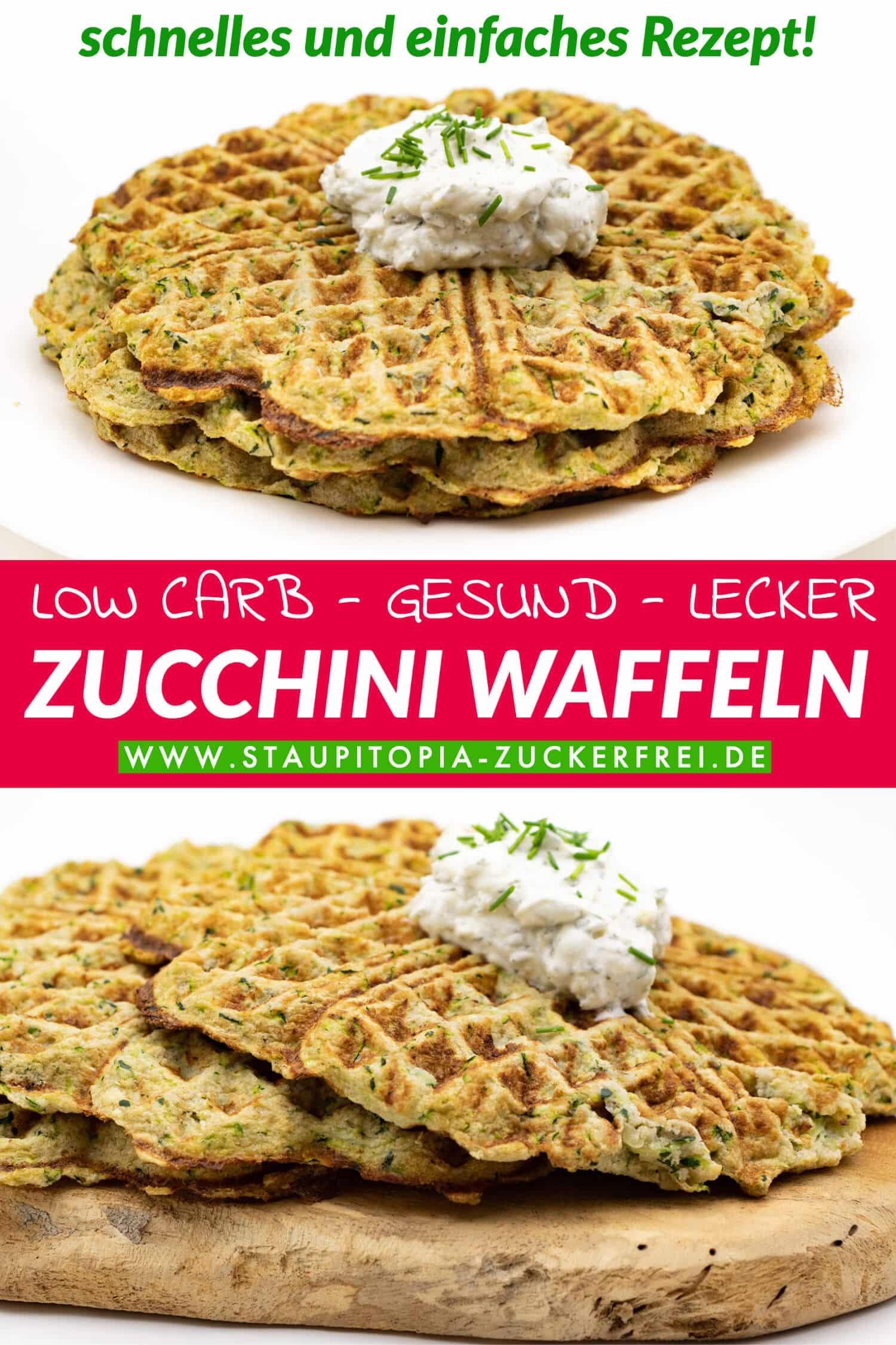 Zucchini Waffeln Low Carb Rezept