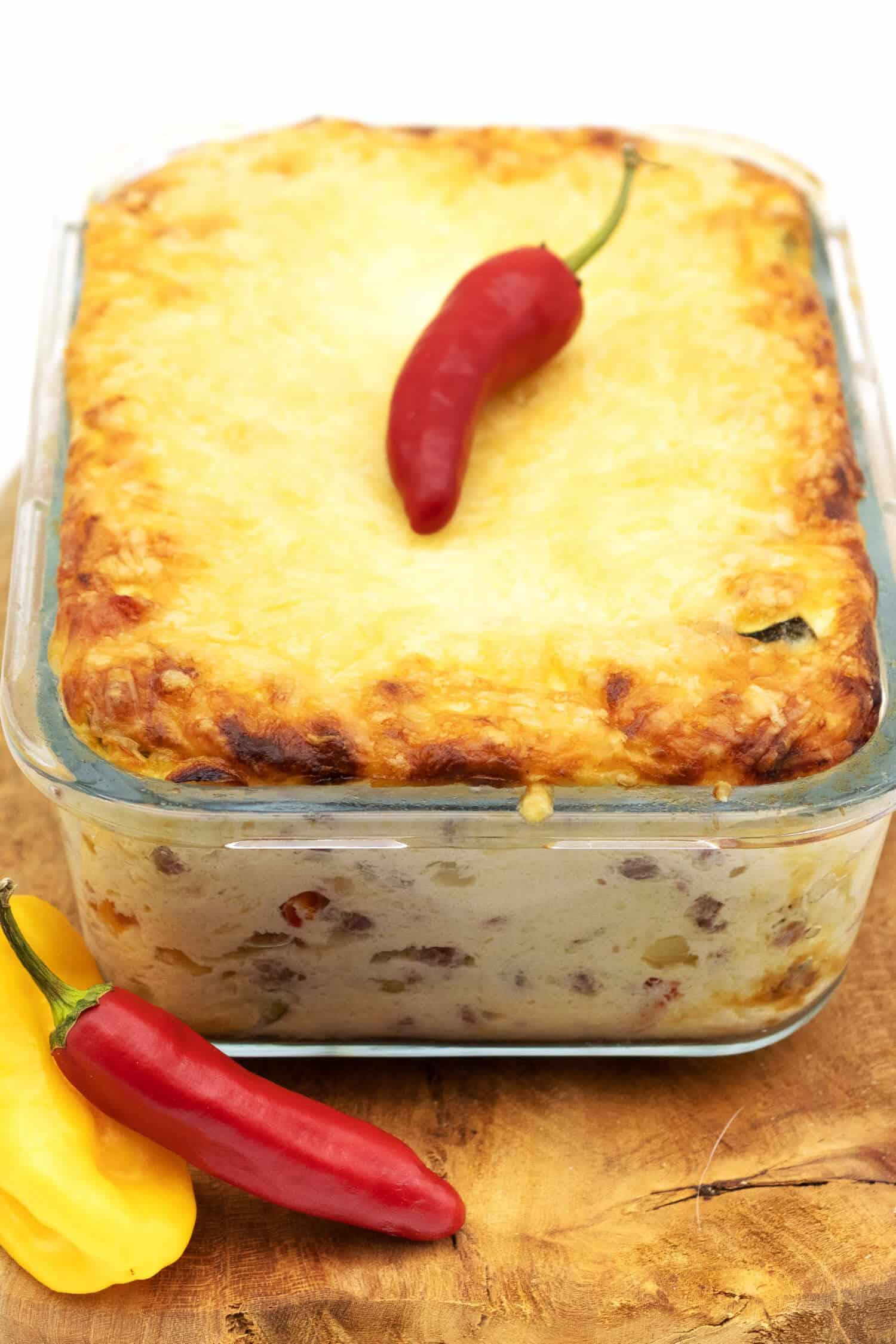 Pikanter Low Carb Quarkauflauf - Low Carb Abendessen Rezept