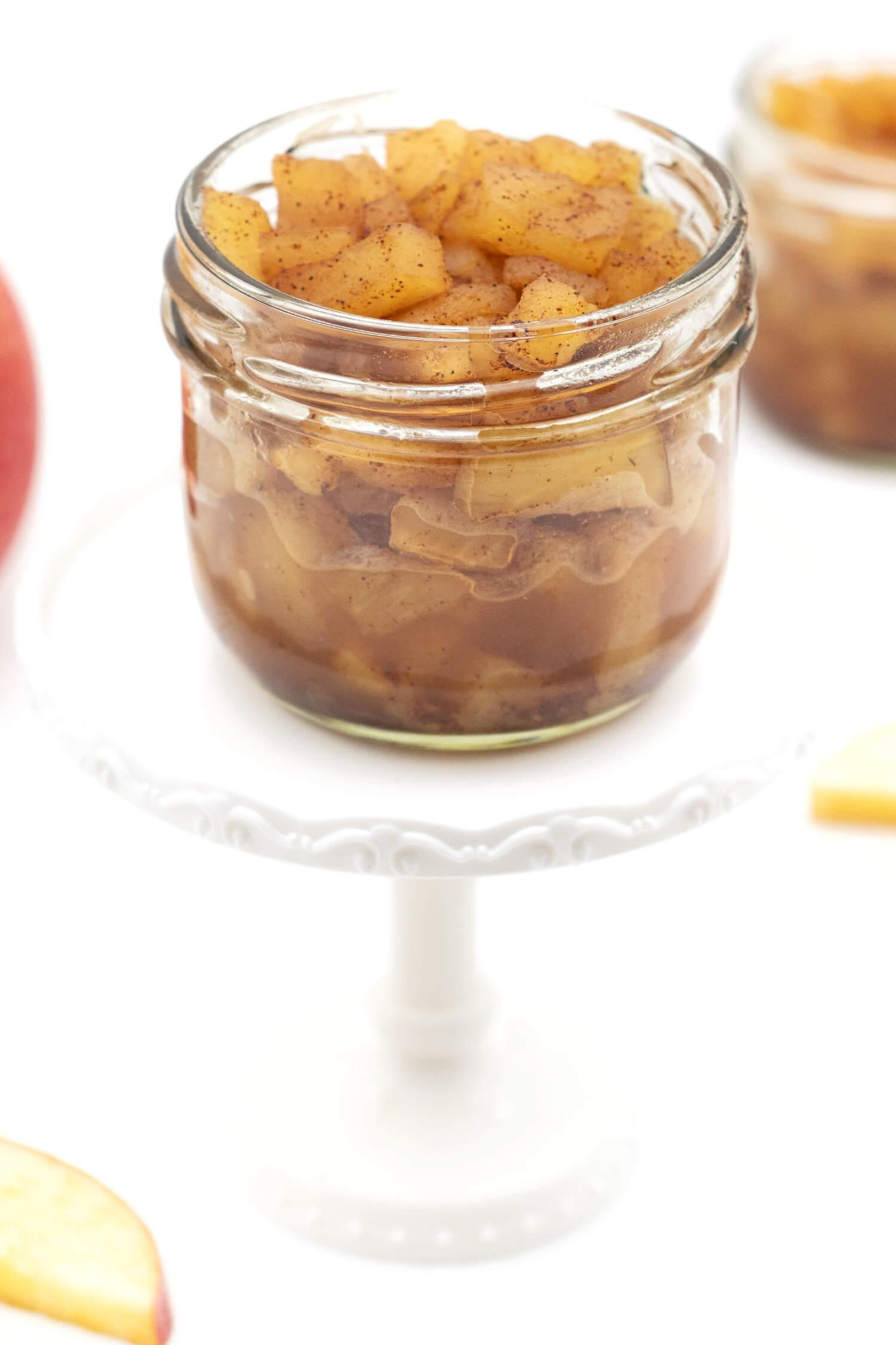 Apfelkompott haltbar machen ohne Zucker