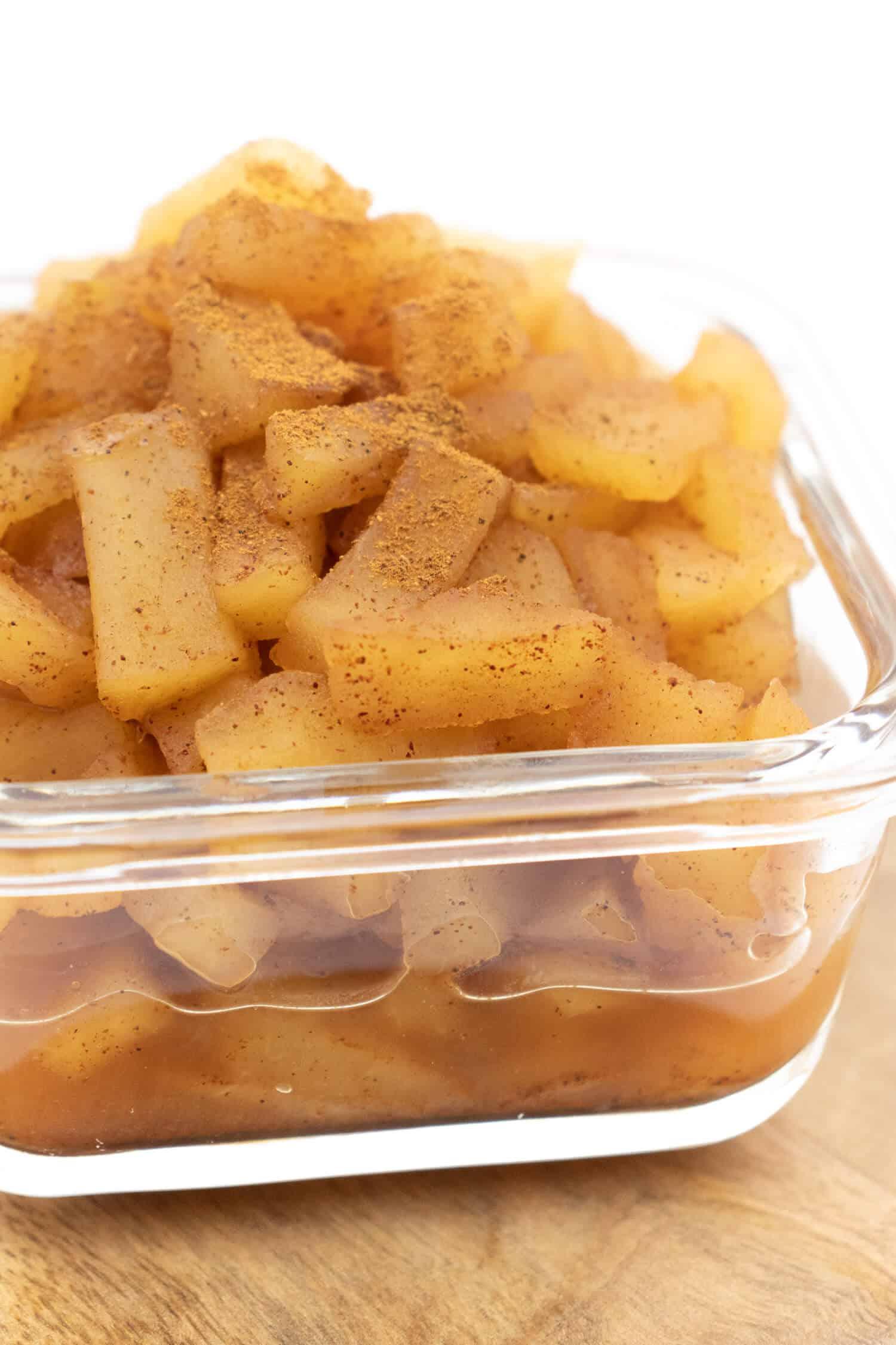 Apfelkompott kochen ohne Zucker