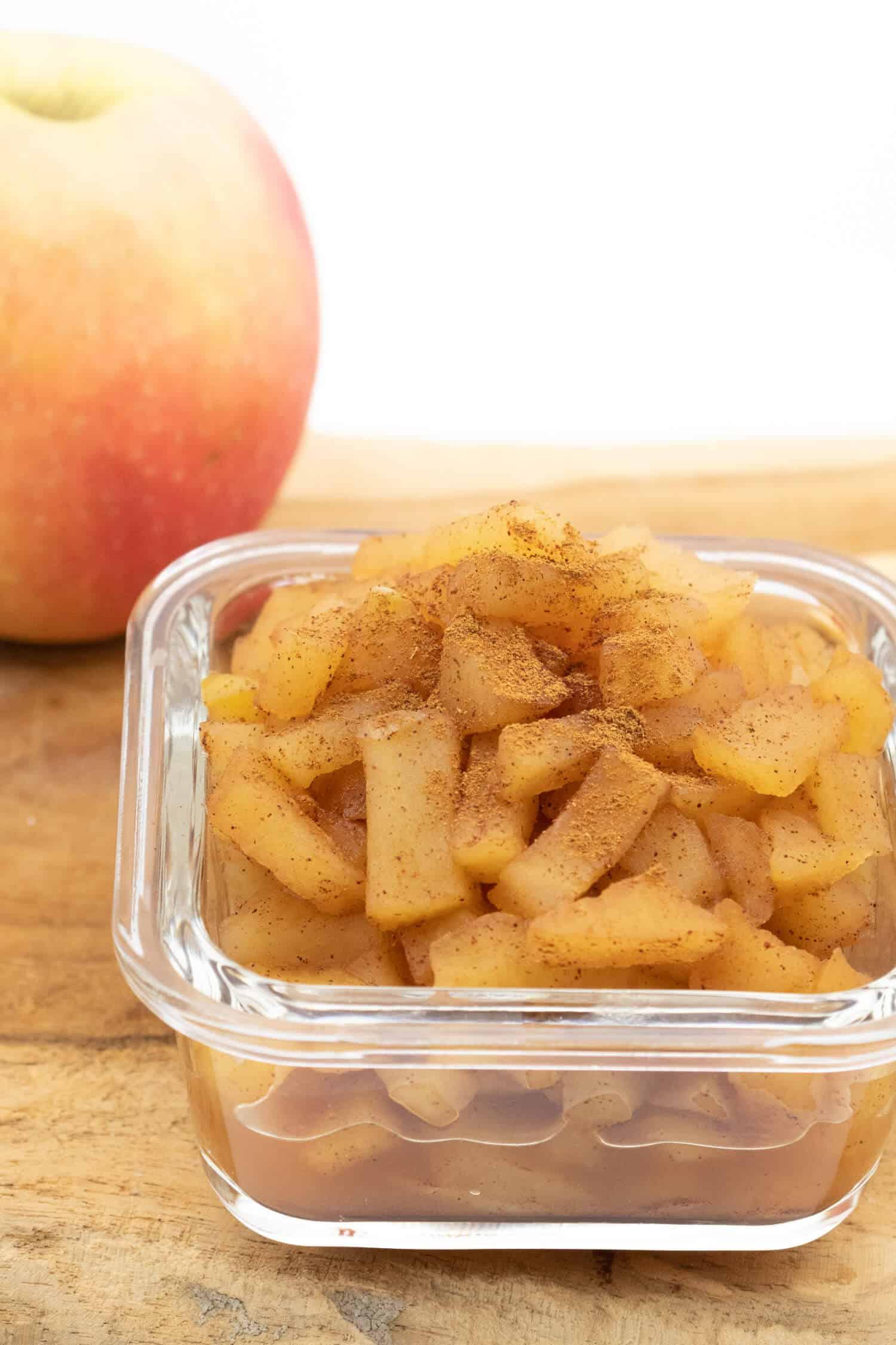 Apfelkompott mit Zimt selber machen
