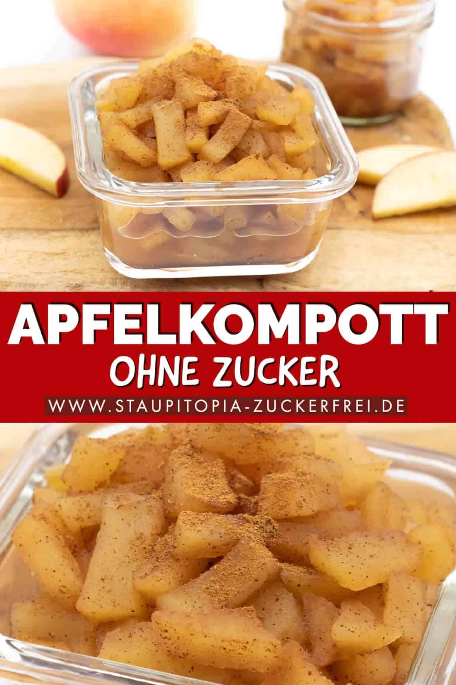 Apfelkompott ohne Zucker selber machen Rezept
