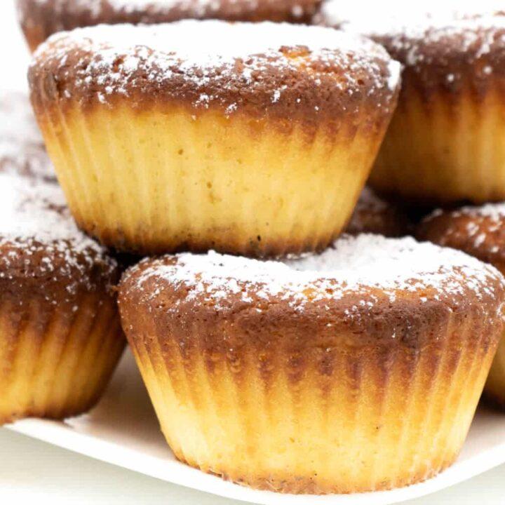 Einfache Vanille Muffins ohne Zucker backen
