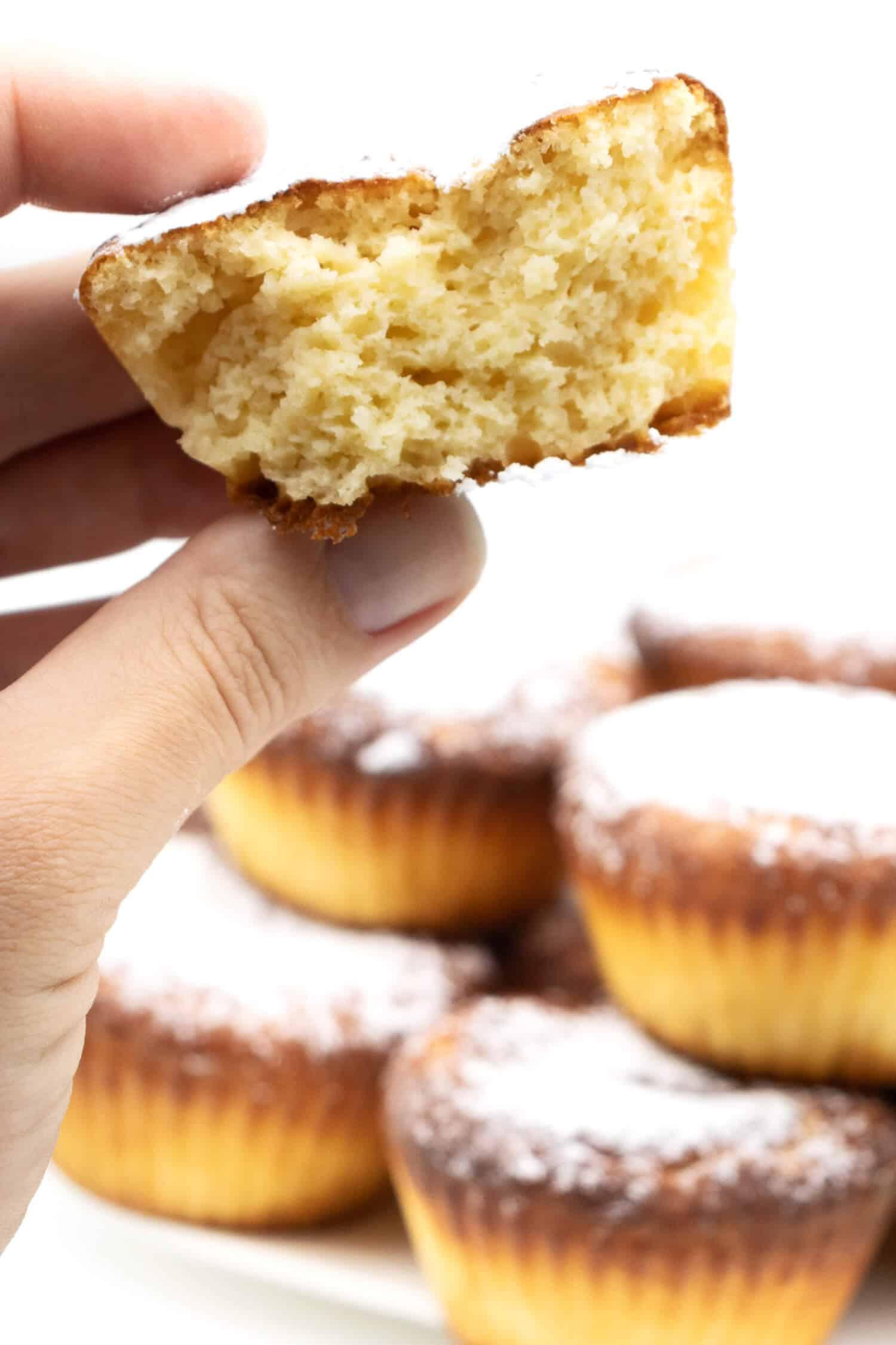 Fluffige Vanille Muffins selber machen ohne Mehl