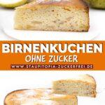 Low Carb Birnenkuchen ohne Zucker Rezept