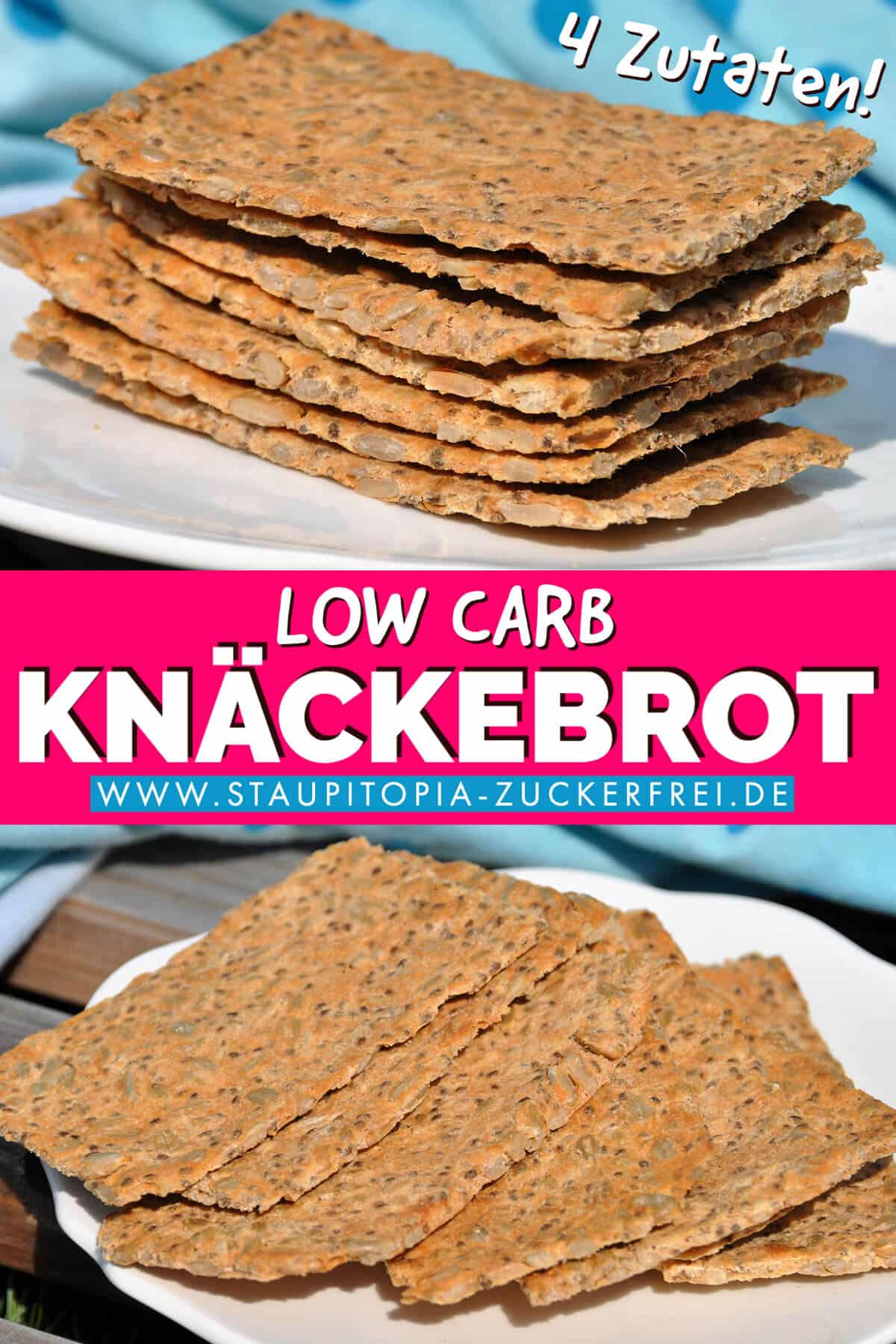 Low Carb Knäckebrot Rezept ohne Kohlenhydrate