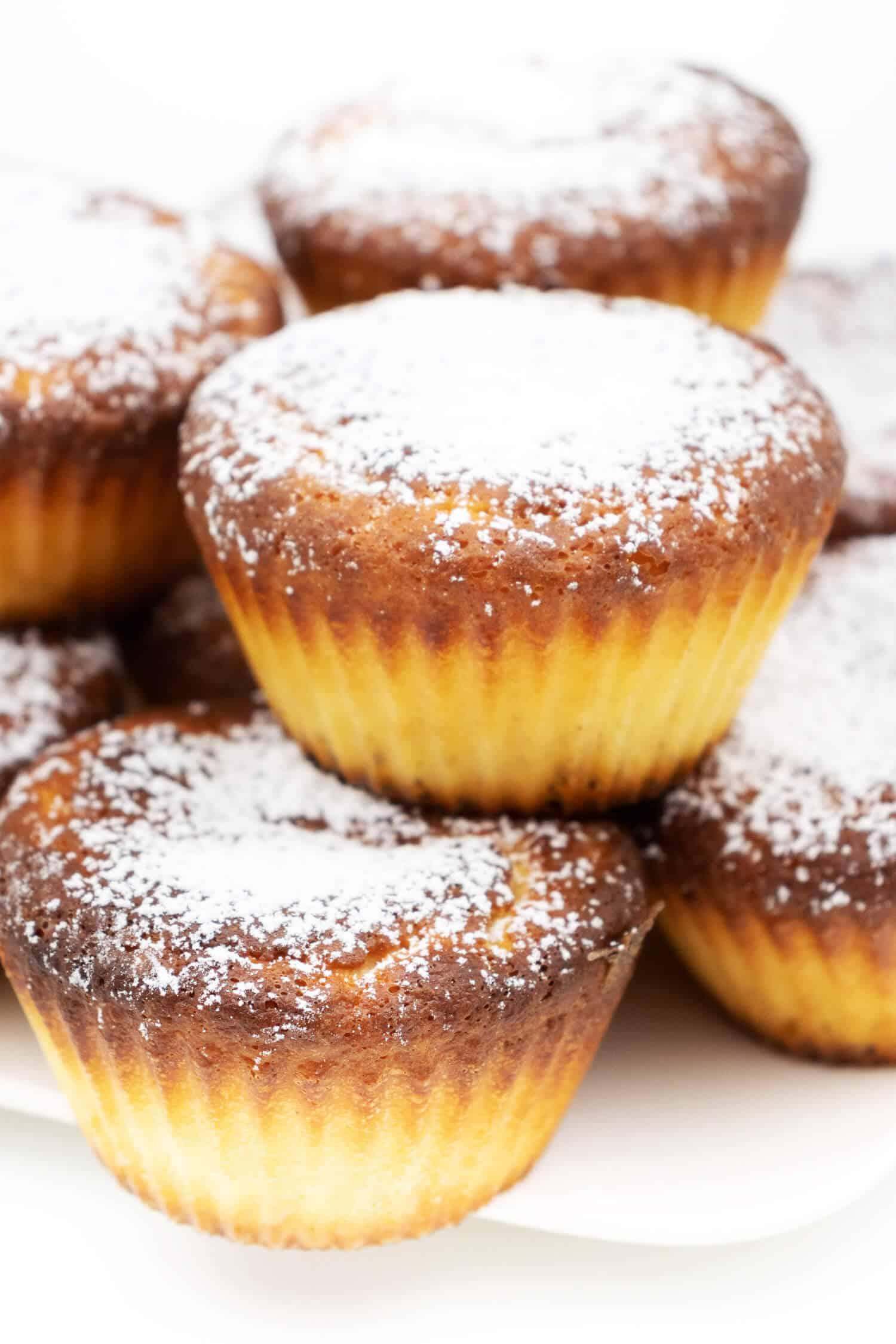 Low Carb Vanille Muffins mit Kokosmehl