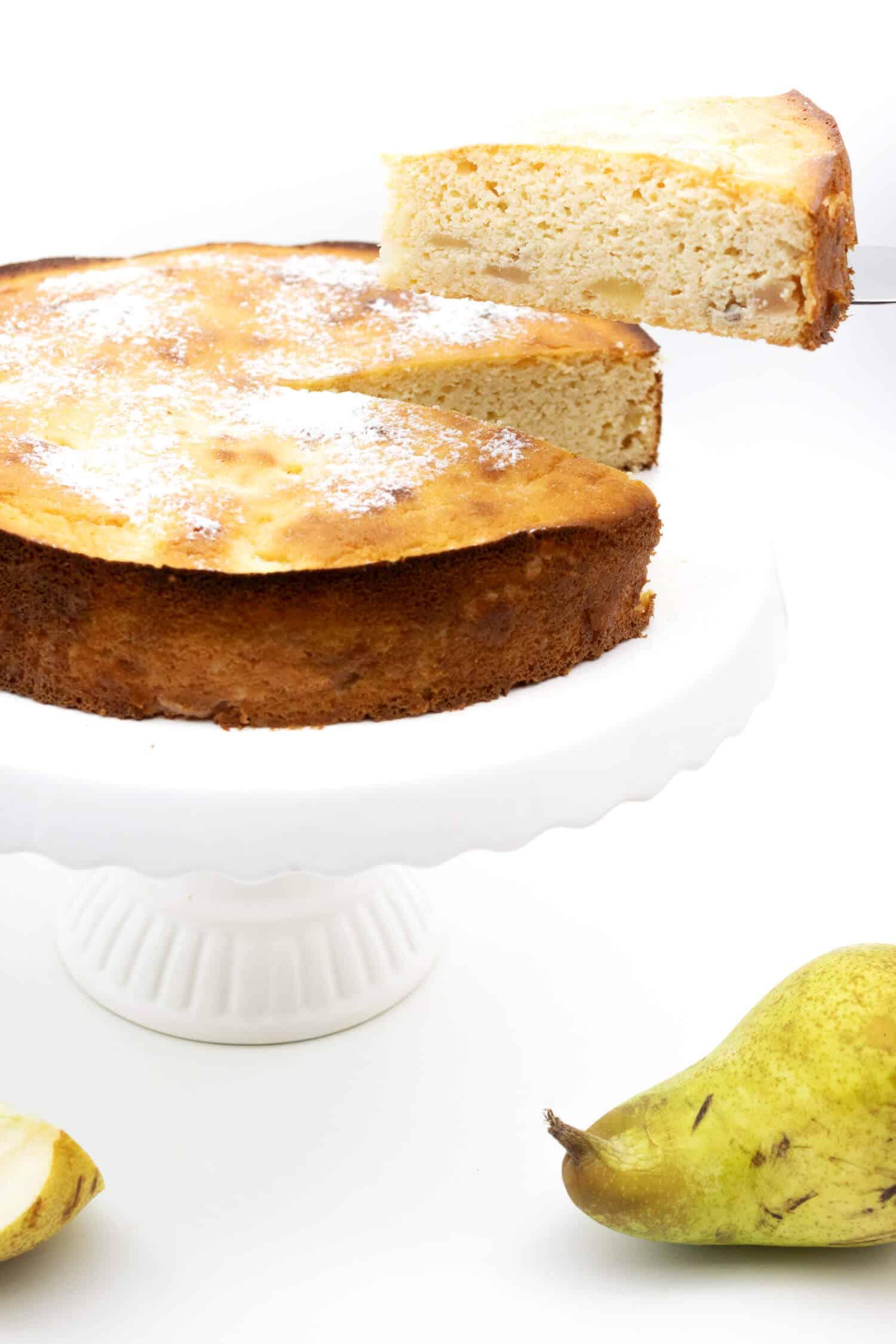 Saftiger Kuchen mit Birnen