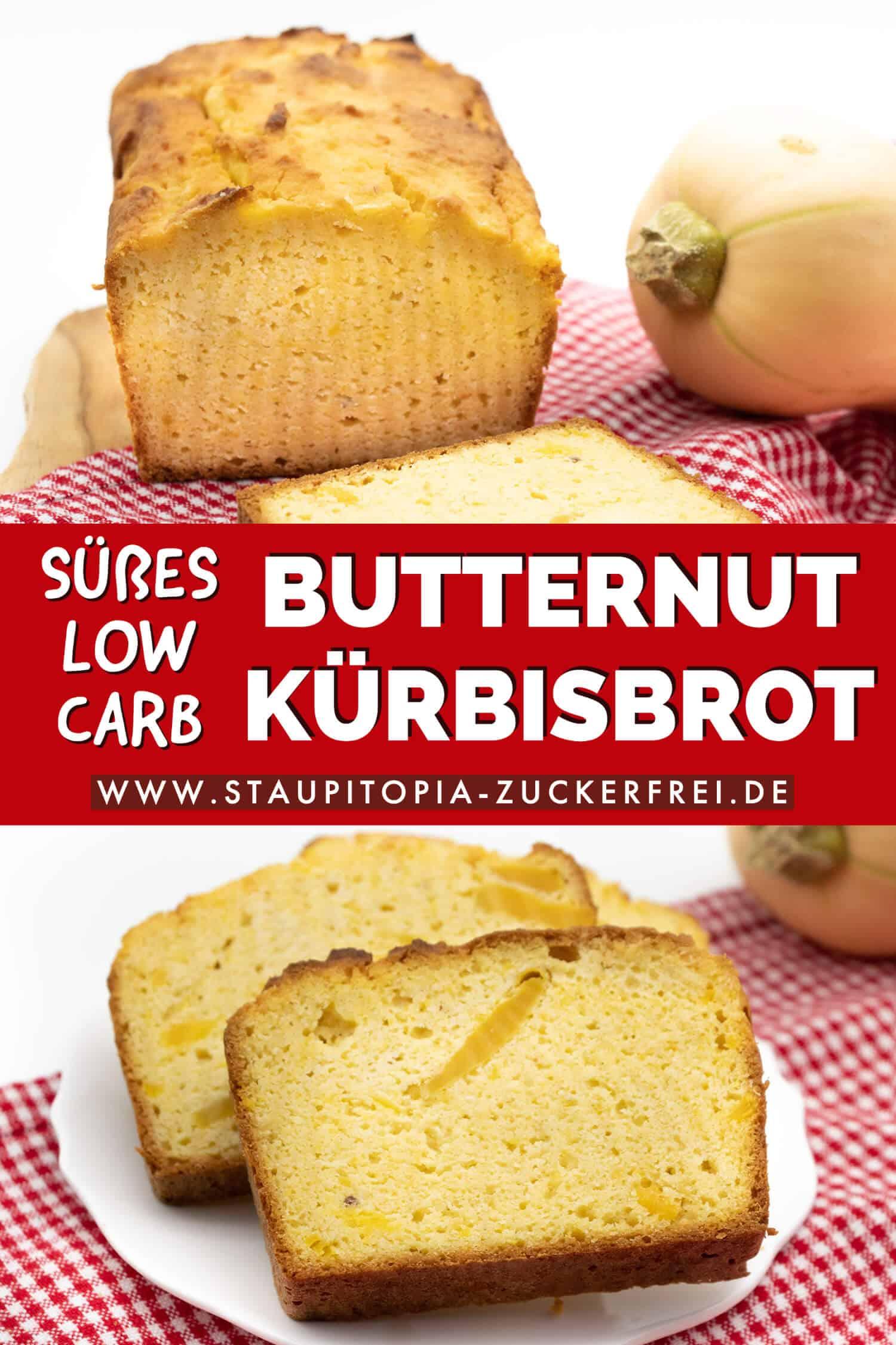 Süßes Kürbisbrot Low Carb Rezept