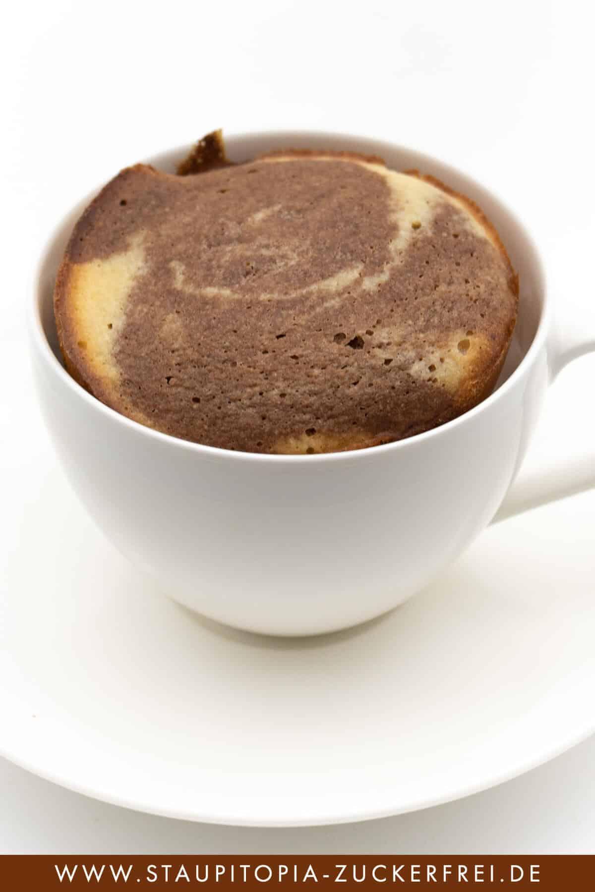 zuckerfreier Tassenkuchen Marmor