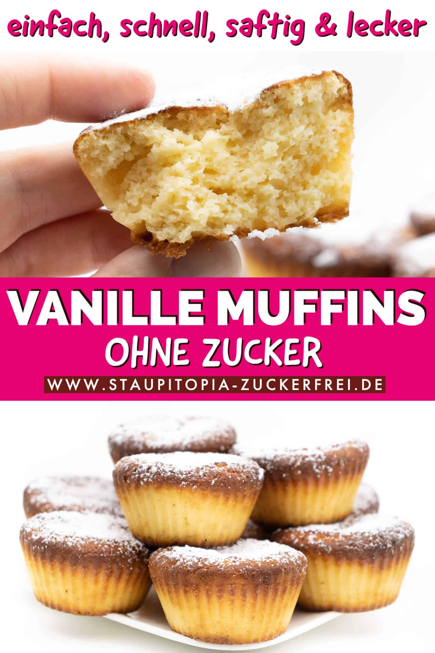 Low Carb Vanille Muffins ohne Zucker Rezept