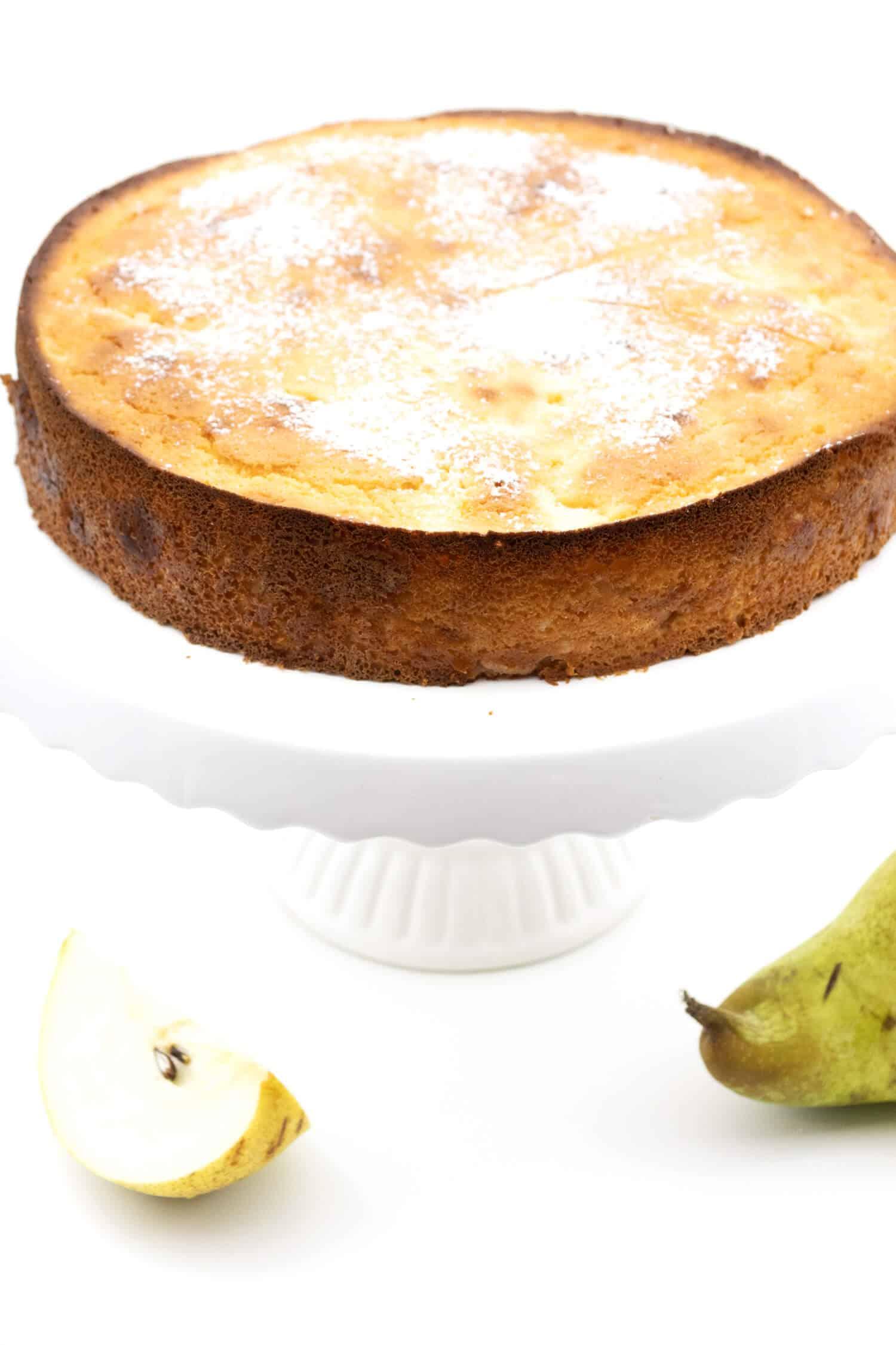 Versunkener Birnen Kuchen glutenfrei