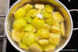 Zubereitung Quittenbrot ohne Zucker Schritt 2